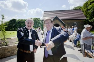 Derek Hutchinson with Paul Farmer, chief executive of mental health charity MIND