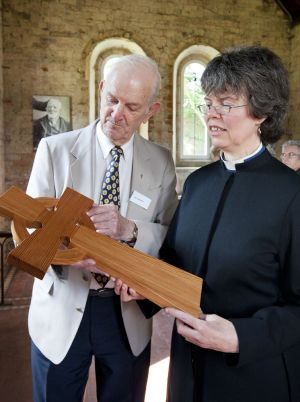 Vice-chairman of the financial trustees Ron Sweeney and the Rev Ruth Yeoman at the garden's opening, July 2, 2011
