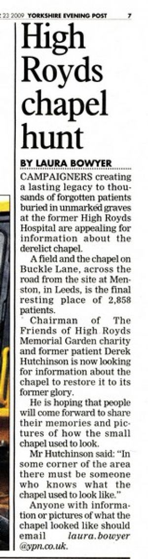 Evening Post,  November 3rd 2009