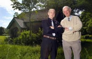 The Then Chairman, Derek Hutchinson (left) with Ron Sweeney, Telegraph &amp; Argus, July 23rd 2009