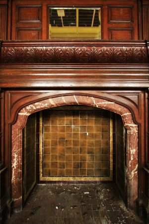 Ballroom fire place, September 2007