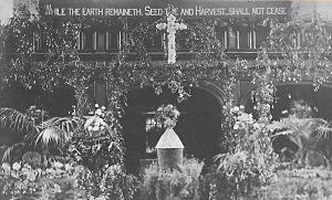 Decorated around 1914 for the Harvest Festival
