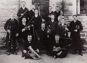 Hospital Orchestra, Back Row Right Chief Attendant Maude, Donated By Hilary Renton, nee Baldwin