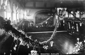 Menston Ballroom decorated, circa 1914