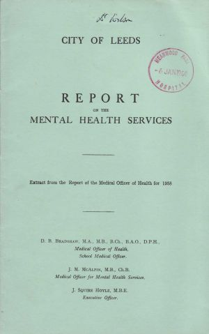 Mental Health Services 1958