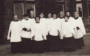 Hospital choir, F, Eric, Rogers 3rd from left, Mary Teale,  6th from left.