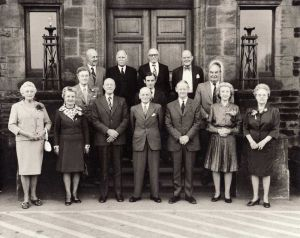 The Hospital Committe 1974, Braham Is Pictured Middle Row, Centre.