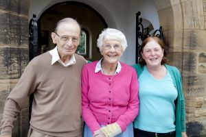 Braham at the High Royds Memorial Garden open day July 7, 2012.  Braham is pictured with his wife and daughter.