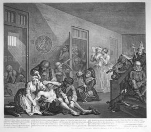 Interior of Bedlam 1763
