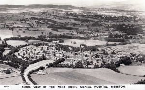 Aerial Photo Post 1939, Note the Admission Wards (Escroft - Richmond, opened 1939) To The Front Of The Administration Building
