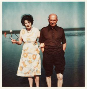 Jean And George Bitton  Taken In The 1950's Walney Island - Barrow In Furness.  George Was The Farm Bailiff 1931 - 1954