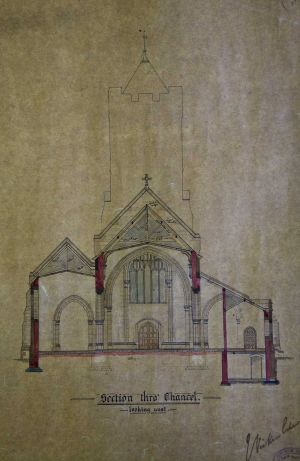 Proposed church Menston 1888