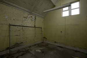 Mortuary rear room