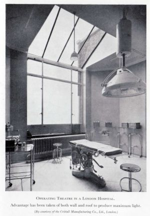 London mental hospital operating theatre.