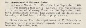September 1948, Mortuary Porter