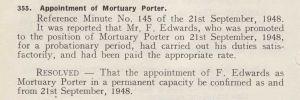 September 1948, Mortuary Porter