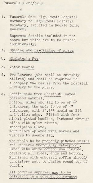 Funeral costs 1966