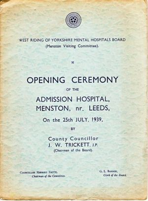 A Grand Opening Ceremony  25th July 1939