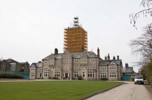 High Royds Clock Tower Scaffold Closer April 10 2010