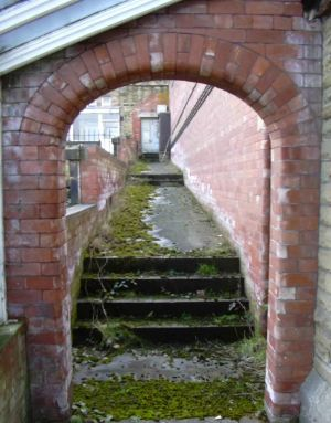 Access to main corridor to Hazelwood Ward from Mortuary