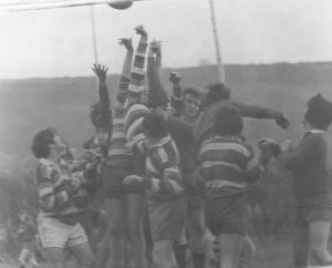 High Royds Rugby Team in Action 1972