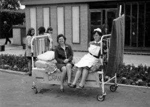 Mrs Lloyd Nursing Officer, Charity Bed Push