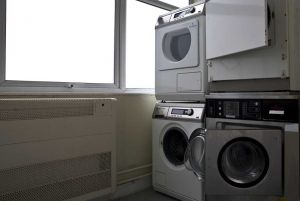 Utilities Laundry Room with Mounted Washing Machines