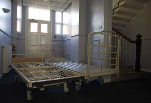 Hospital Beds that are shown Side by Side