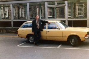 John Howarth with Tony Stokes new Cortina 1976