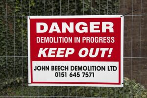 Mid Wales Hospital, September 2010, Demolition