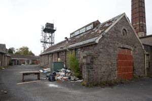 Mid Wales Hospital, September 2010, Works Yard