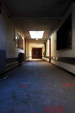 Mid Wales Hospital Corridor