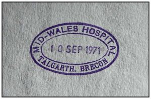 Mid Wales Hospital 1971
