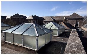 Rooflights looking towards male epileptic block