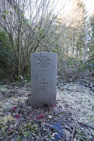 Private John Lewis, Buried in the pauper patient cemetery attached to the hospital chapel.