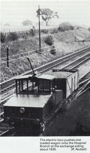 Electric loco on the branch line.