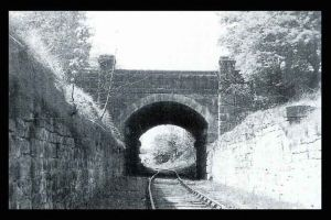 Old railway bridge prior to 1951