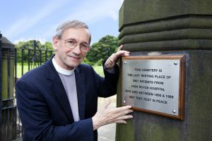 Ven Dr David Lee, Archdeacon of Bradford, Who blessed the High Royds Memorial Garden September 9, 2012.