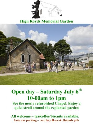 High Royds Memorial Garden, Open Day 6 July 2013