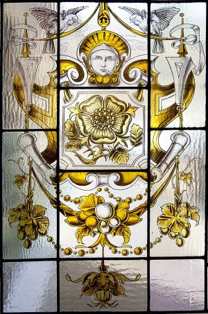 Stained glass in the Medical Superintendents house.