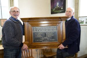 The war memorial that was stolen in 2008 has at last been replicated and hung in the memorial chapel at Buckle Lane.