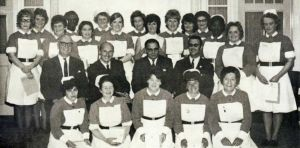 Nurses on night duty who passed their assessment october 1971 photo by H Jones.