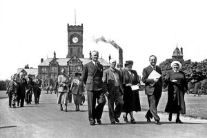 The clock tower parade 1949