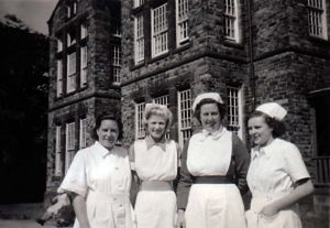 Mary Teale, 3rd left outside Aysgarth