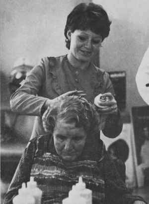 October 1970, the ladies hair dressing salon photo H Jones.