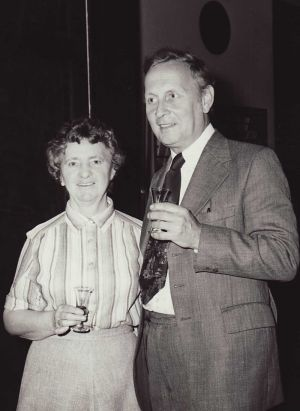Freda pictured with Roy At The 1979 CIBA Conference