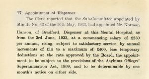 Dispenser  Appointment Of Successor, 1933