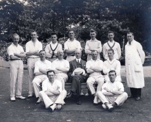 Menston M.H.C.C 1934, Dr Samuel Edgerley Medical Superintendent Centre