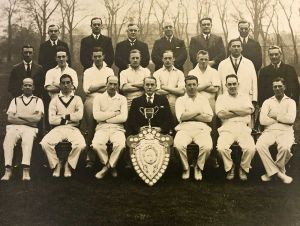 West Riding Mental Hospital athletic club cricket section 1935